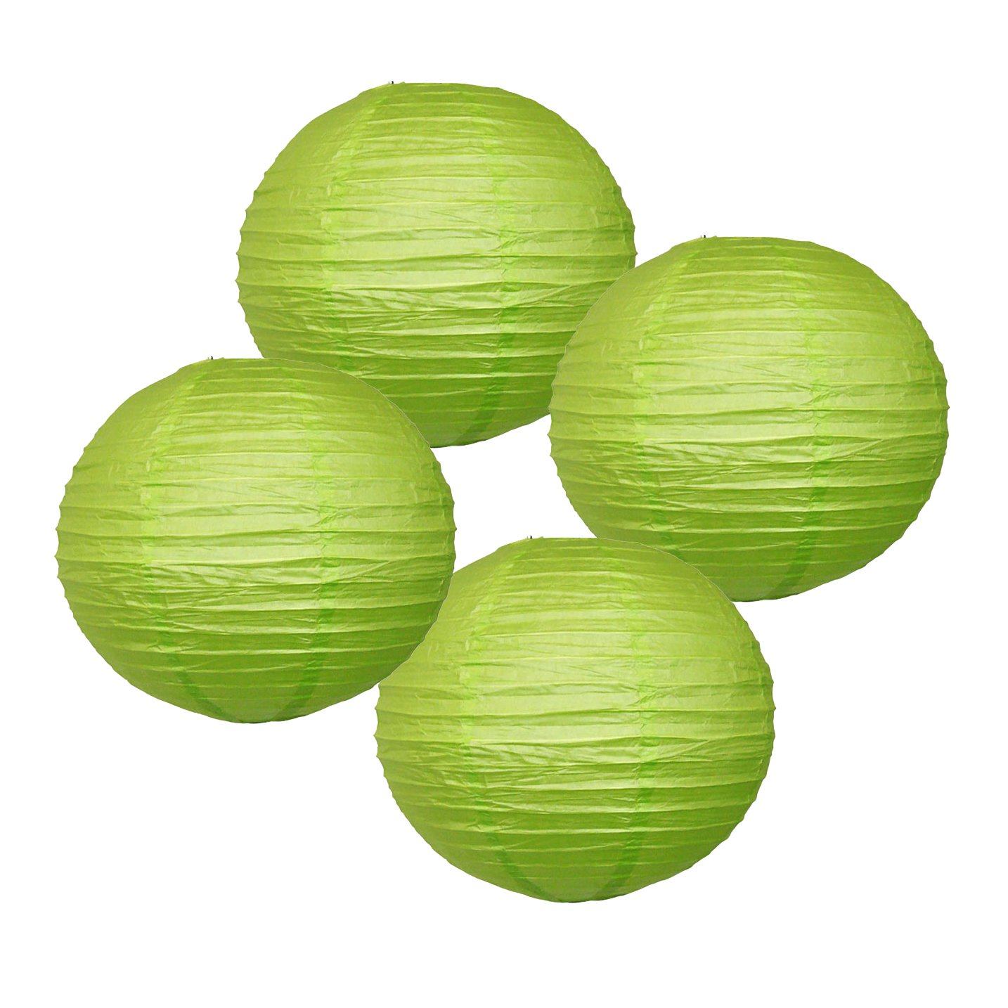 Just Artifacts 様々な紙製ランタン(色とサイズの異なる紙のランタン) 6inch AMZ-RPL4-060017 B01EGXJXN6 6inch|ライトグリーン ライトグリーン 6inch