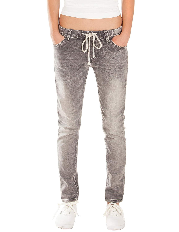 Fraternel Jeans Donna Jogger Pantaloni Normal Waist