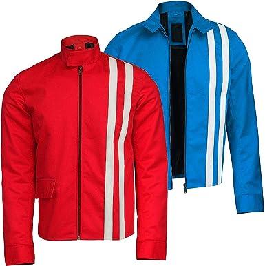 EU Fashions - Chaqueta de algodón con Rayas Rojas y Azules y ...