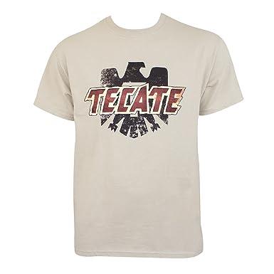 Tecate Logo Tan Tee Shirt Medium
