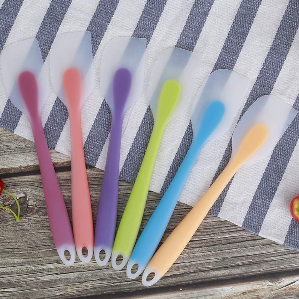 Compra Qoosea Silicone Spatulas Silicone Spatula Set Kitchen Craft Colorworks Rubber Scraper Spatula Set Resistente al Calor Sin Costuras Hornear, ...
