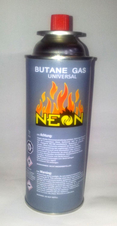 NEON Pack de 4 cartuchos de gas butano MSF-1A de 227 g para camping, gas butano para hornillo de gas y lámpara