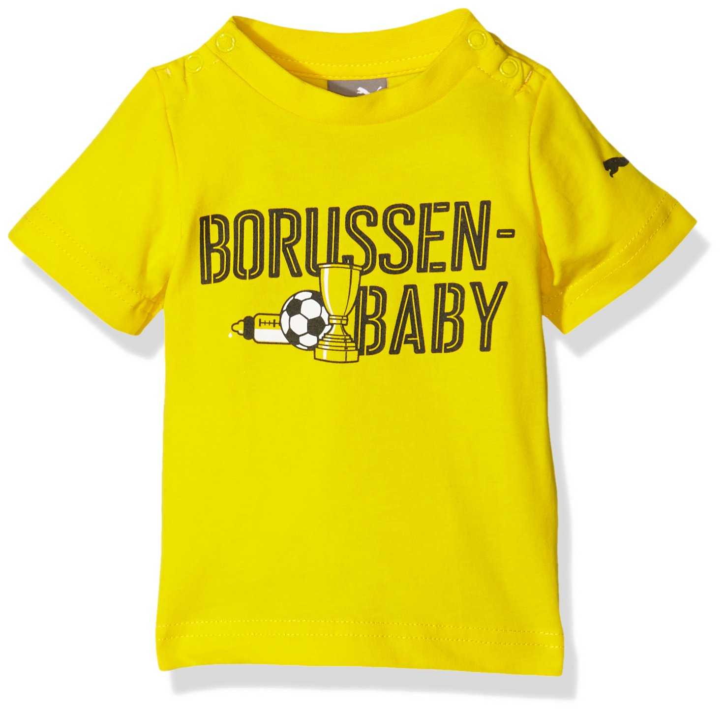 Puma Unisex Baby T-Shirt BVB Minicats Graphic Tee 750139 01
