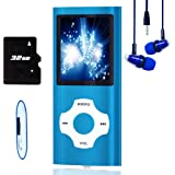 MP3 Player / MP4 Player, Hotechs MP3 Music Player with 32GB Memory SD Card Slim Classic Digital LCD 1.82'' Screen Mini…