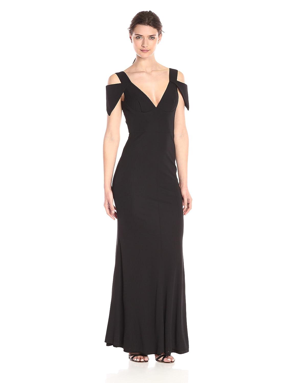 Amazon.com: ABS Allen Schwartz Women\'s One Side Off Shoulder Gown ...