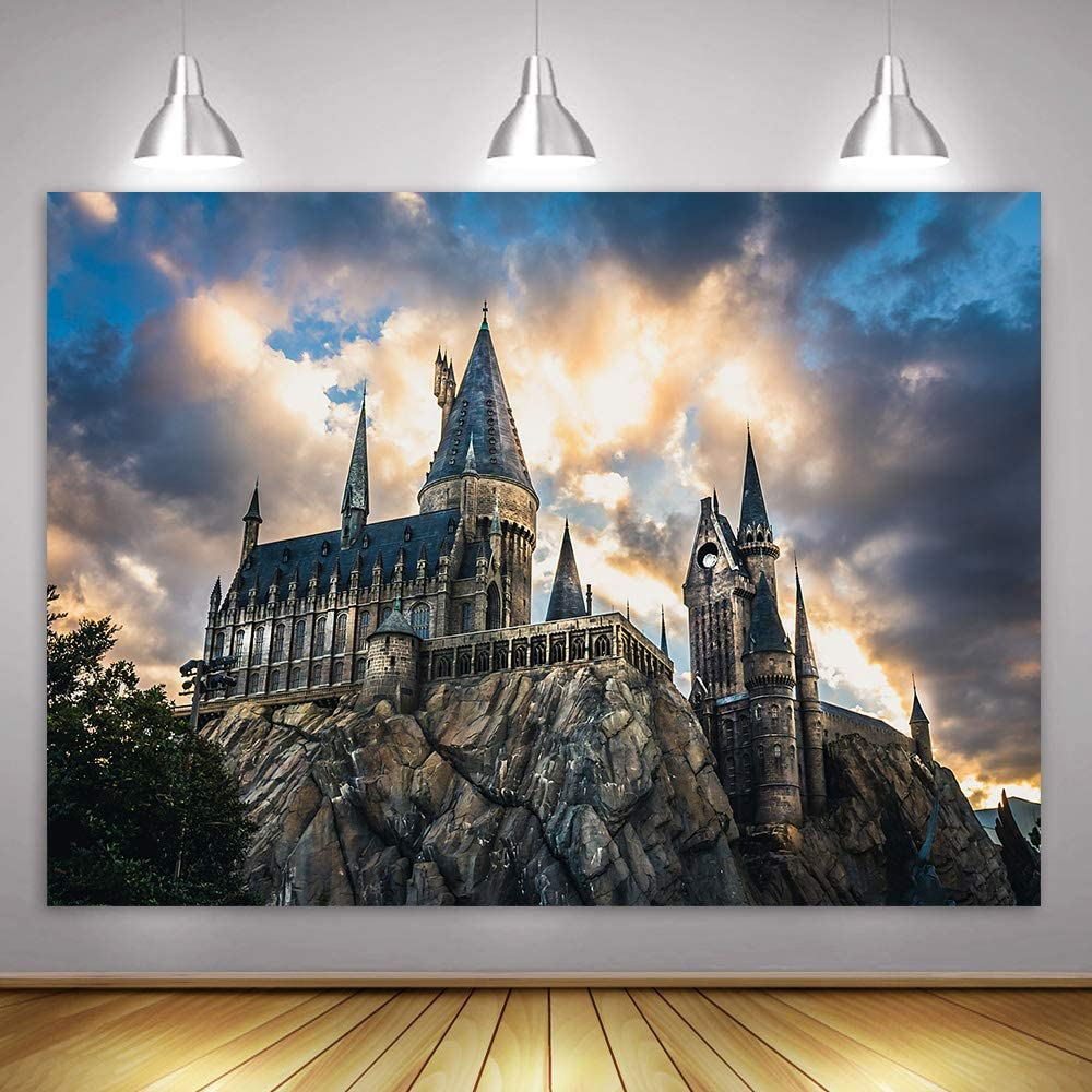 MME Magic Castle Witch Wizard Backdrop 10x7ft,Photography Background Sorcerer Party Banner Decors for Child Kid Portrait Photo Booth Prop ZYME0895