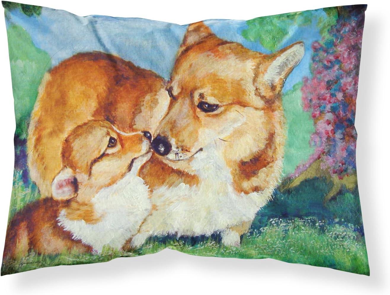Amazon Com Caroline S Treasures 7412pillowcase Corgi Momma S Love Fabric Standard Pillowcase Standard Multicolor Caroline S Treasures Home Kitchen