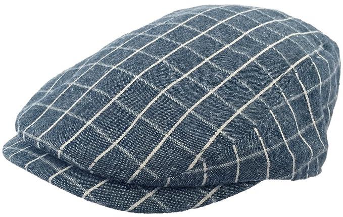 49e8fb29 Broner Plaid 100% Cotton Ivy Cap Summer Driver Hat Newsboy Flat ...