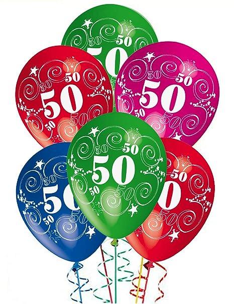 ocballoons Palloncini Compleanno 50 Anni addobbi e Decorazioni per