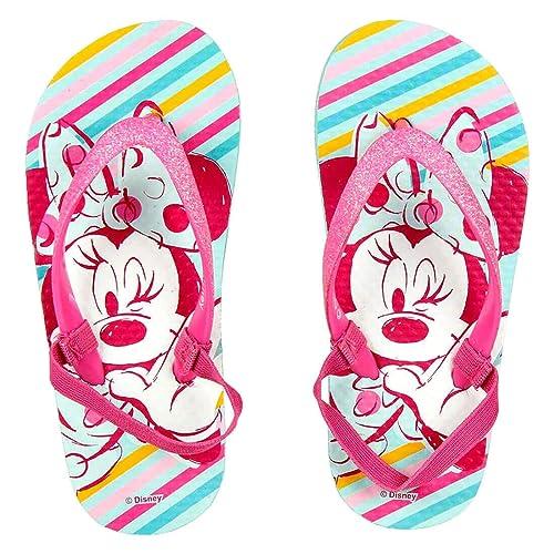90c8000df8 Ciabatte Infradito Bambina Minnie Mouse Disney Glitterato con Brillantini e  Fascia Elastica, Multicolor (Taglie