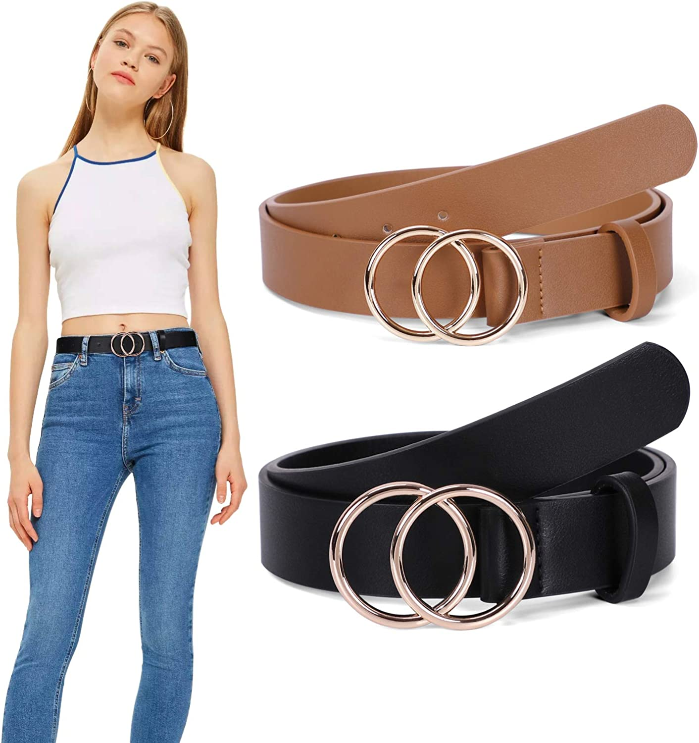 Women Leather Belt WERFORU...