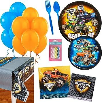 Birthday Express Monster Jam - Kit de Suministros para Fiesta para 16 Personas: Amazon.es: Juguetes y juegos