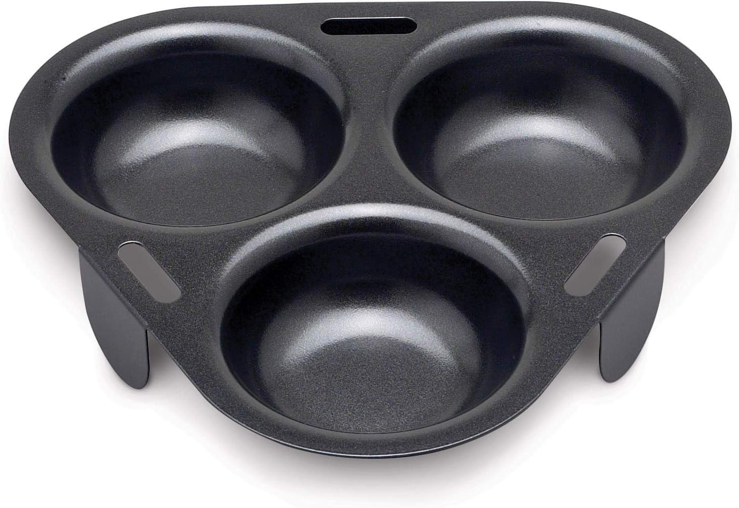 HIC Non-Stick 3-Egg Poacher Insert, PFOA and BPA Free