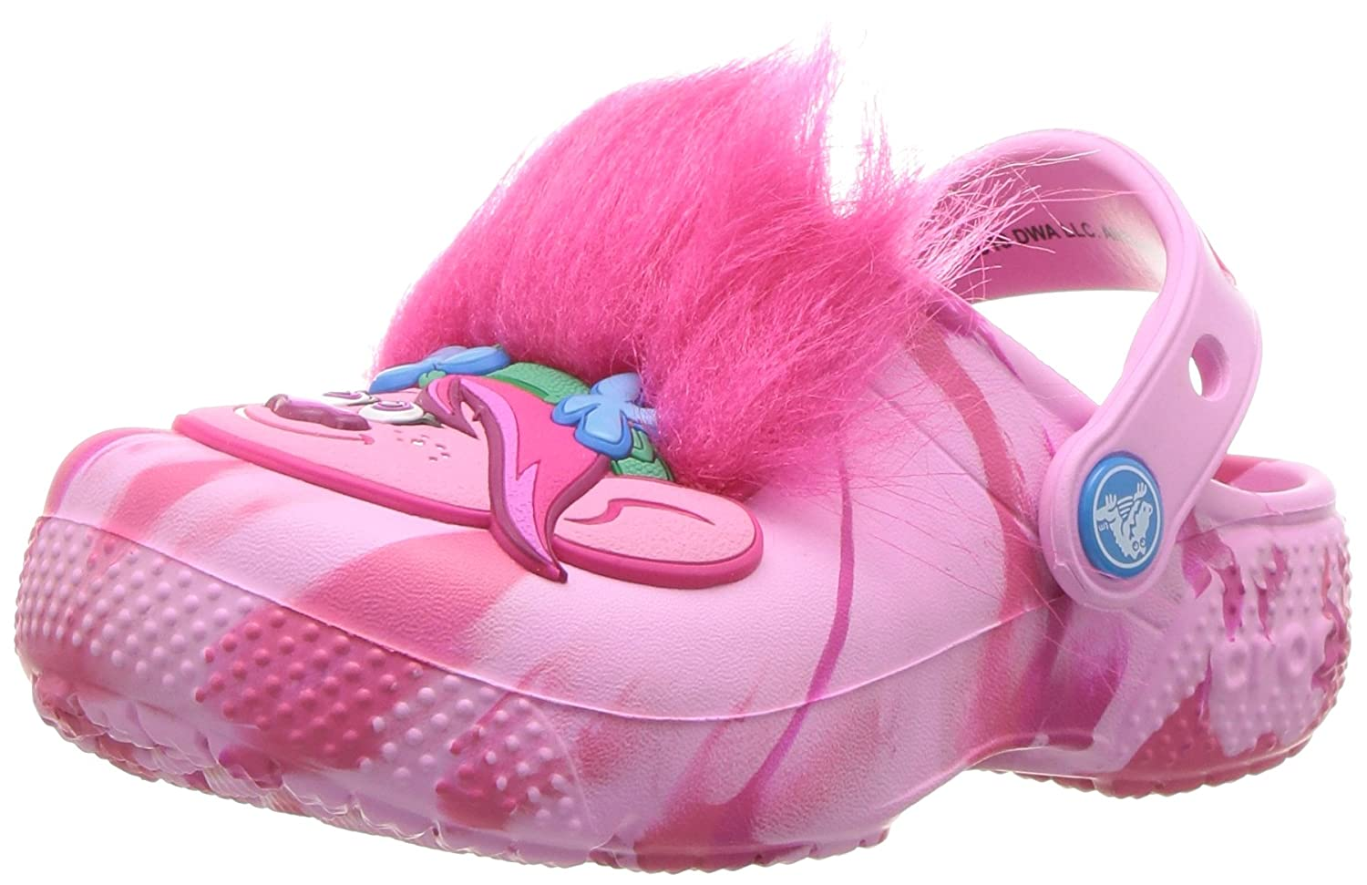 Crocs unisex Kids' Fun Lab Trolls Clog , party pink , 1 M US Little Kid 205297-6U9