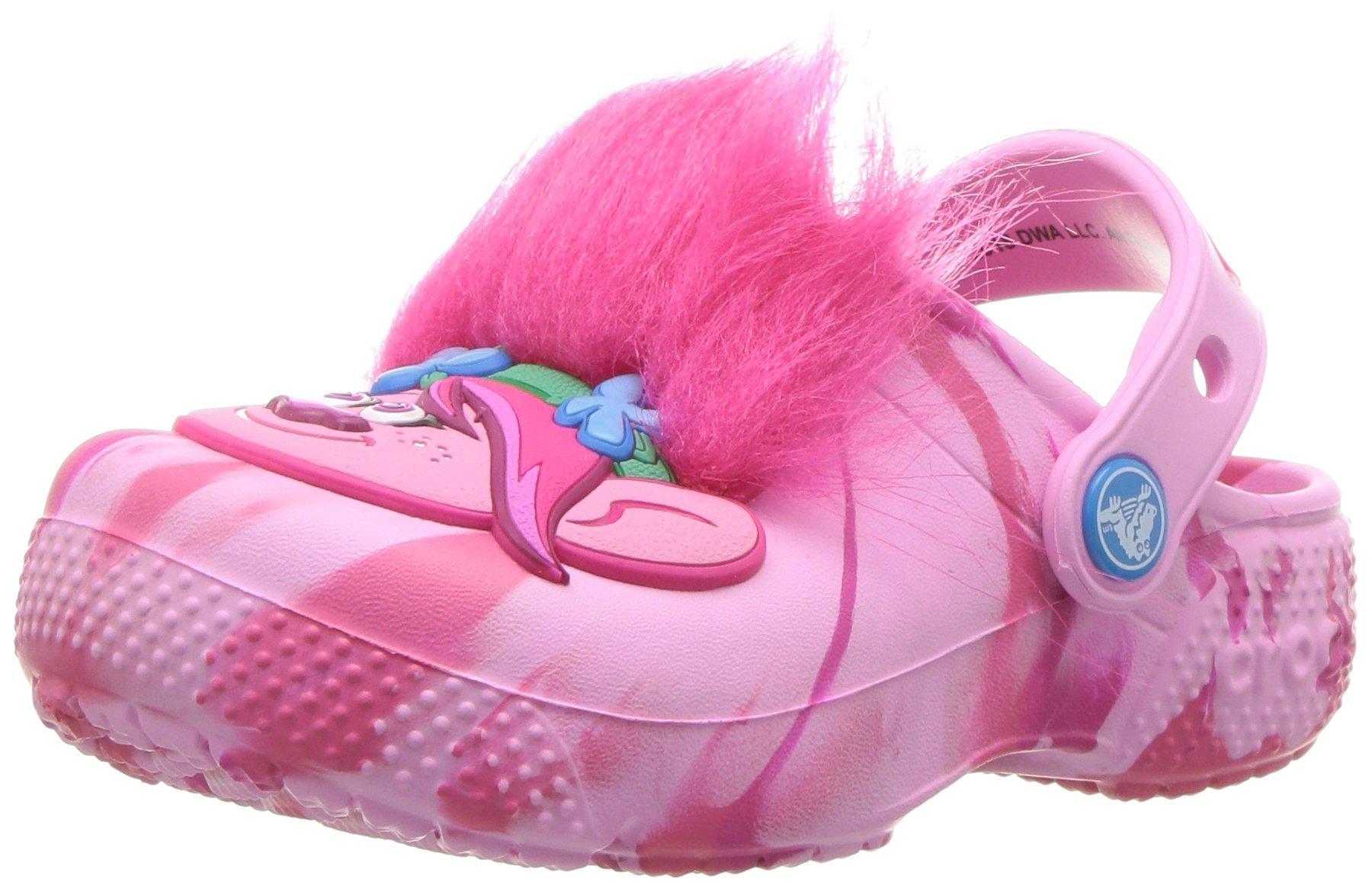 Crocs Unisex Fun Lab Trolls Clog K, Party Pink, 11 M US Little Kid