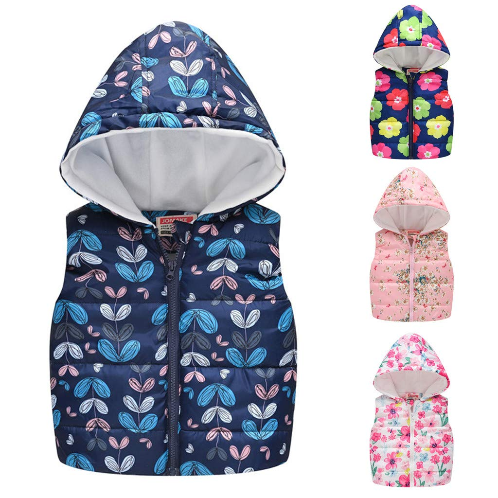 Haokaini Baby Toddler Sleeveless Vest Coat Children Fall Winter Warm Hooded Waistcoat