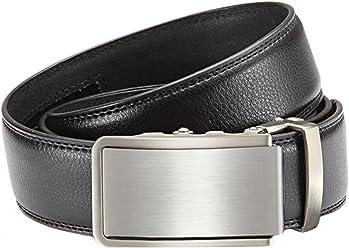 Eg-Fashion Herren Anzug Gürtel mit Automatikschließe 3,5 cm Breite Business Ledergürtel Herren Automatikgürtel