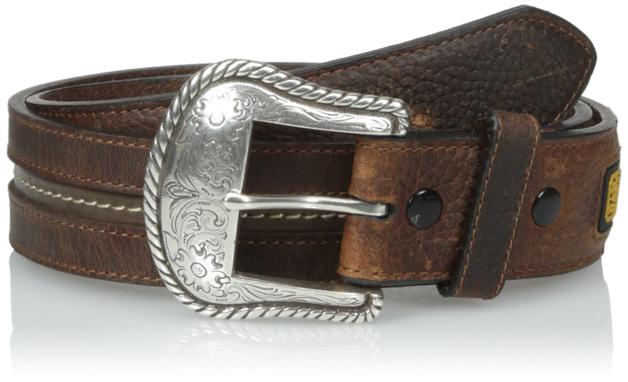 Dan Post Men's Center Stretched Oil Tanned Leather Belt, Brown, 32
