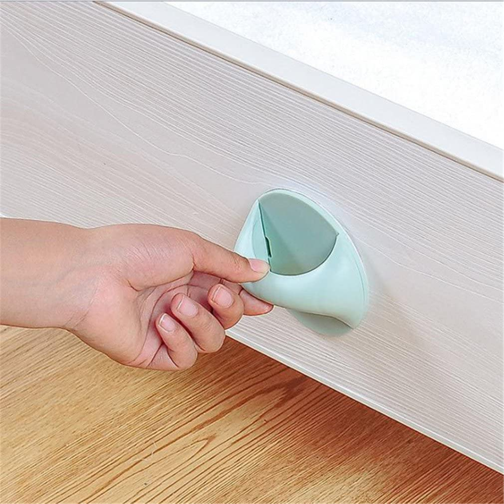 GUAngqi Round Absorption Handle Additional Handle Stuck Door Handle Drawer Cabinets Handle,white
