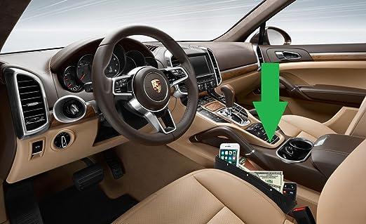 2 Pack asiento de coche gap Filler por lebogner - PREMIUM de piel sintética full asiento organizador de bolsillo organizador de consola, coche, ...