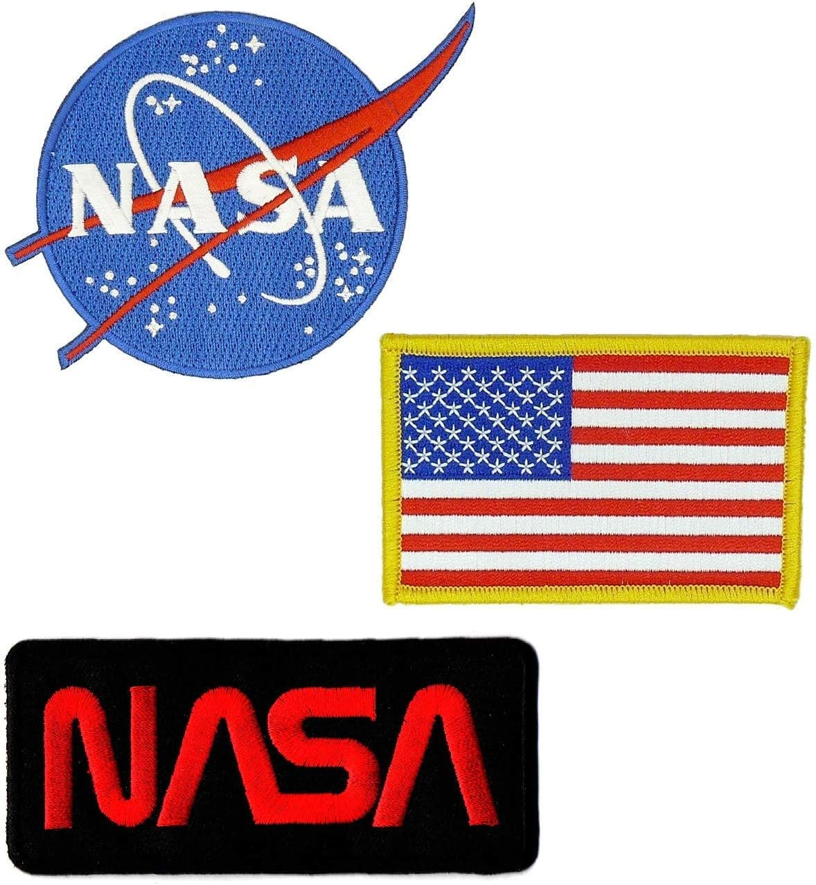NASA Space Program Embroidered Iron Patch Astronauts Space Travel Collectibles