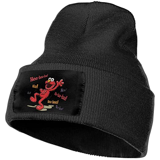 932b6930 Hoodeid Unisex Beanie Hat Vintage Elmo HEE HEE Knit Hat at Amazon ...