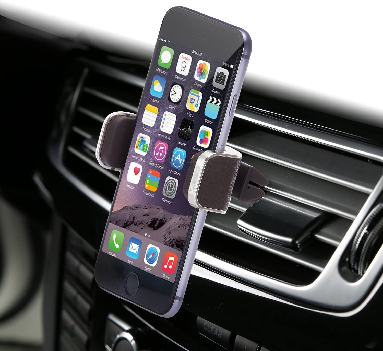 Amazon Com Dash Crab Mono Genuine Leather Cell Phone Car Mount Luxury Premium Air Vent Car Mount Holder Cradle For Iphone 7 Plus 6 6s Plus Samsung Galaxy S7 S6 Edge Note 5