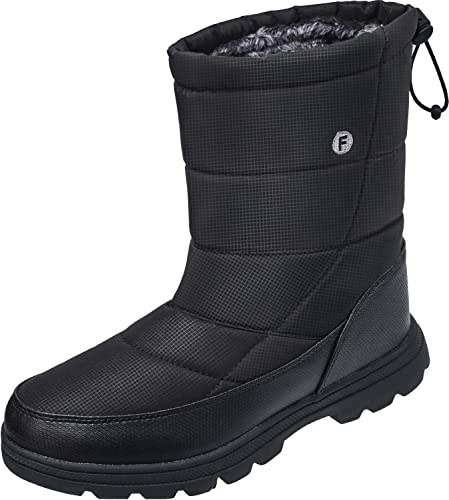 1825dc34713ff JOINFREE Winter Snow Boots Womens Mens Lightweight Mid Calf Warm Outdoor  Bootie with Fur Lining for Skiing Hiking