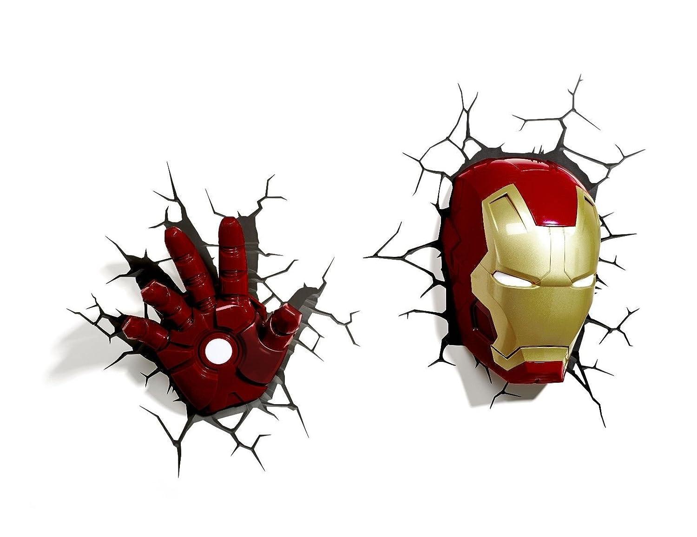 Marvel 3d deco light avengers iron man mask helmet and repulsor hand marvel 3d deco light avengers iron man mask helmet and repulsor hand deluxe set wall nightlight amazon toys games aloadofball Gallery