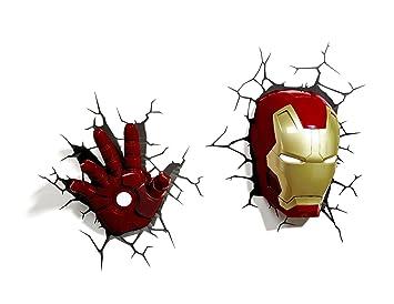 Marvel 3d deco light avengers iron man mask helmet and repulsor hand marvel 3d deco light avengers iron man mask helmet and repulsor hand deluxe set wall nightlight aloadofball Choice Image