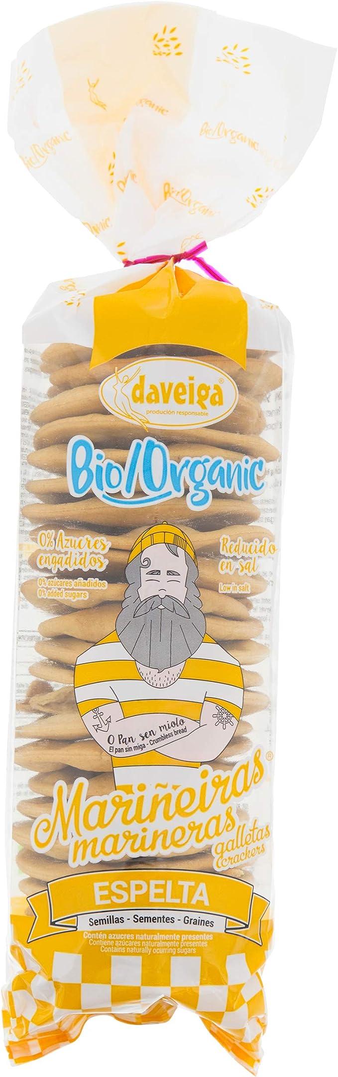 Galleta Marinera Bio de Harina de Espelta y Aceite de Oliva Extra Virgen. Sin azúcares añadidos.: Amazon.es: Alimentación y bebidas