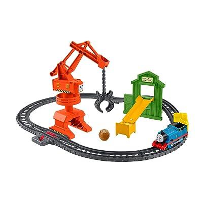 Thomas & Friends Fisher-Price Cassia Crane & Cargo Train Set, GHK83: Toys & Games