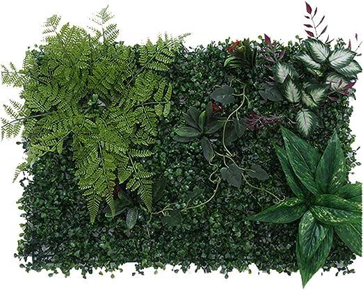 TTIK Césped de Plantas Flor Hierba Hoja Jardín Boda Mesa Fiesta Interior y Exterior 10Pcs para decoración de Plantas Verticales, 40 x 60 cm,A: Amazon.es: Hogar