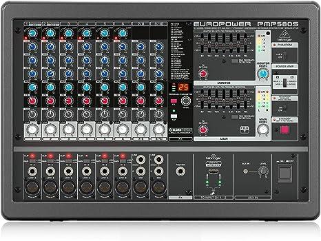 Behringer PMP580S - Mesa de mezclas autoamplificada: Amazon.es ...