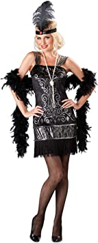 Generique Disfraz Charlestón Mujer- Premium M: Amazon.es ...