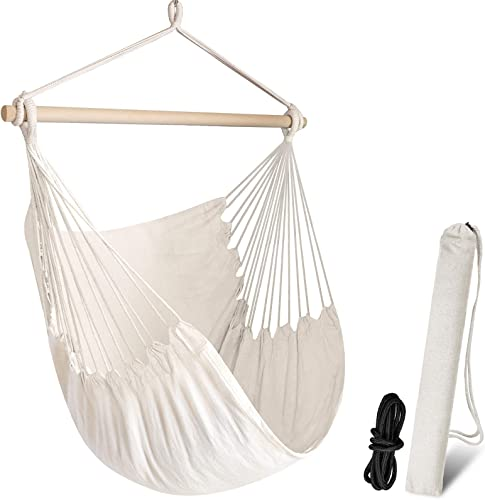 Chihee Hammock Chair Swing Chair Max 330 lbs Large Hanging Seat Patio Lawn Hanging Chair