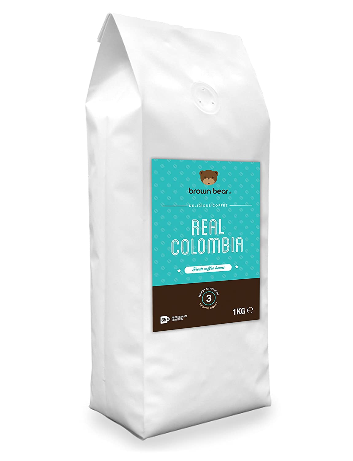 Brown Bear Real Colombia Café En Grano Tostado Medio 1 kg: Amazon.es: Alimentación y bebidas
