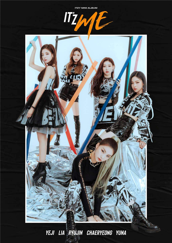 Fanstown KPOP 韓流 ITZY ミニアルバム「IT'z ME」樹脂は膜のA3ポスター (C01)