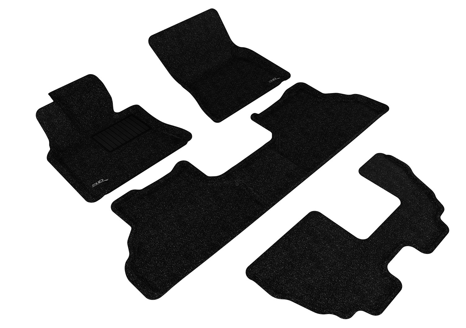 3D MAXpider Complete Set Custom Fit All-Weather Floor Mat for Select BMW X5 E70 Models Classic Carpet Gray