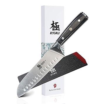 KYOKU Santoku - Cuchillo para chef (acero inoxidable alemán ...