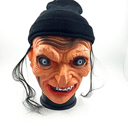Halloween Máscara Horror Miedo Horror Mueca Persona Entera Bruja Anciana Látex Diablo Casa Embrujada Accesorios