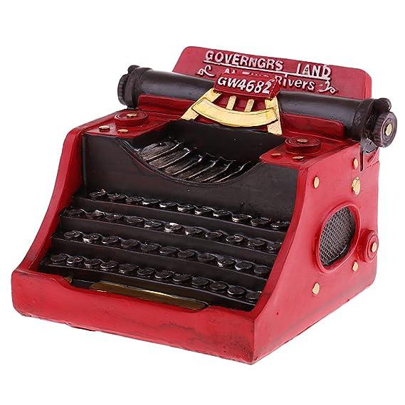 MagiDeal Vintage Modelo Máquina de Escribir Artesanía de Resina Adorno para Bar Cafetería Decoración de Hogar - Rojo: Amazon.es: Hogar