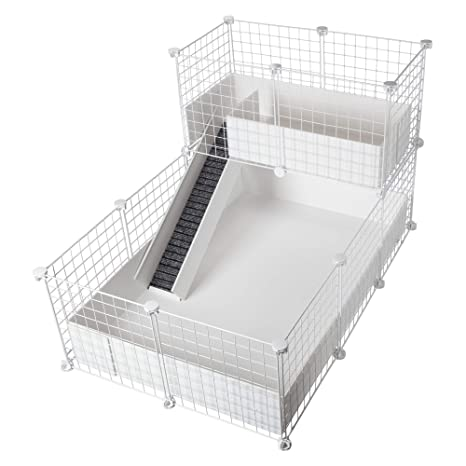 CagesCubes - Jaula CyC Deluxe (Base 2X3 + Loft 2x1 - Panel Blanco ...