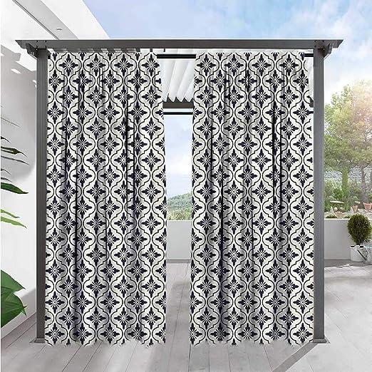 Marilds Cortina geométrica para Puerta corredera, diseño de Nubes japonesas, oscurecimiento térmico, Aislamiento Opaco: Amazon.es: Jardín