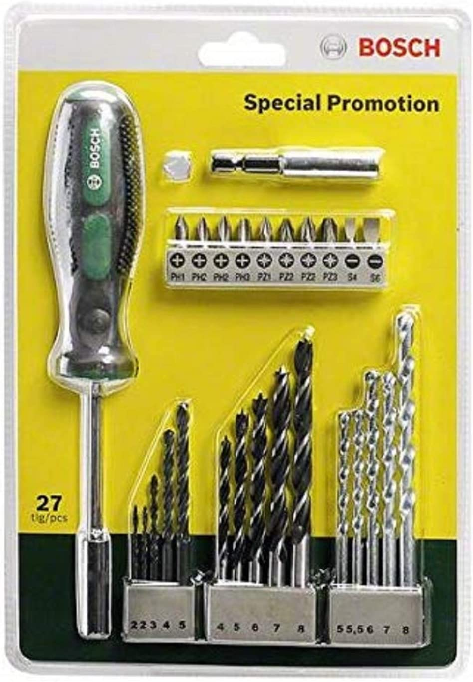BOSCH 2607017201  Set de brocas y puntas de atornillar 27 piezas