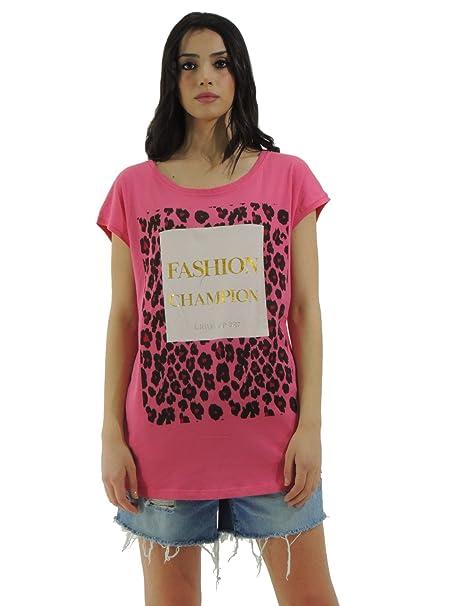 liu jo - Camiseta - Animal Print - para mujer Rosa Medium: Amazon.es: Ropa y accesorios