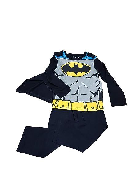 83e992592c Batman Pigiama in Cotone Jersey con Mantello Estraibile per Bambino:  Amazon.it: Abbigliamento