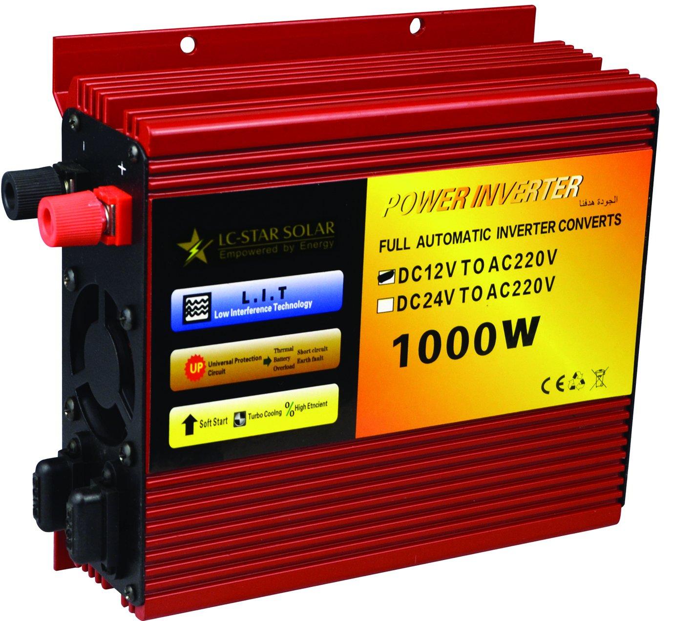 LC-STAR SOLAR 1000W car Power Inverter DC12V to AC 110V Converter for Car Home Laptop Truck LONGCHI TECHNOLOGY