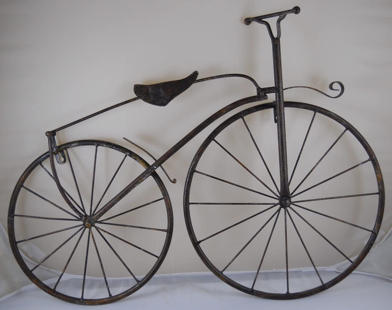 "INsideOUT 25"" Iron Antique Style Bicycle Wall Art Brown"