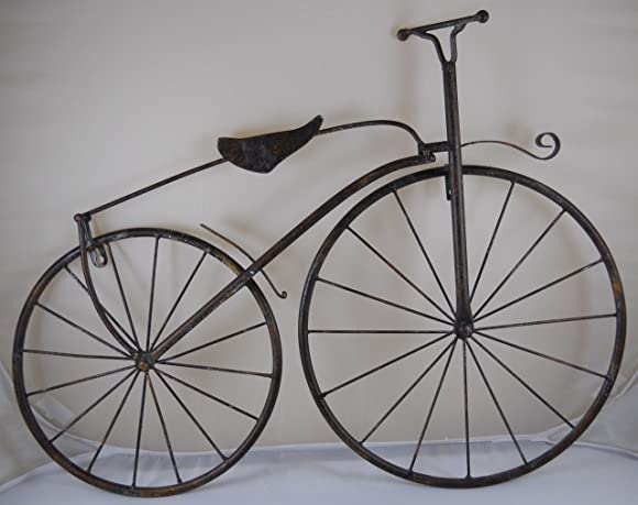 INsideOUT 25″ Iron Antique Style Bicycle Wall Art Brown